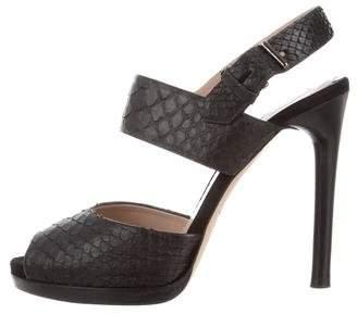 Reed Krakoff Snakeskin Platform Sandals