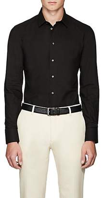 Armani Collezioni Men's Cotton Poplin Dress Shirt - Black