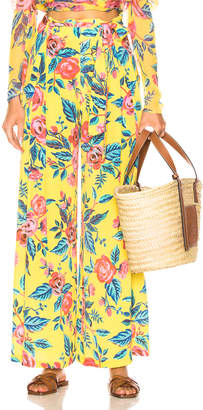 Leone We Are we are Luke Trousers in Yellow Rose Floral | FWRD