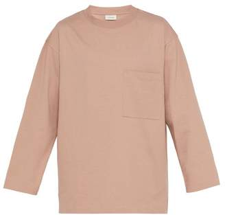 Lemaire Oversized Cotton Jersey Sweater - Mens - Pink