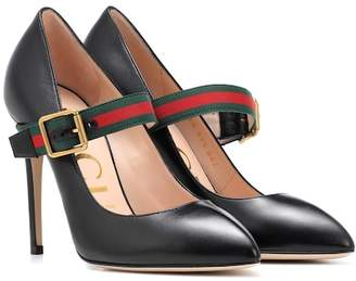 Gucci Leather strap pumps