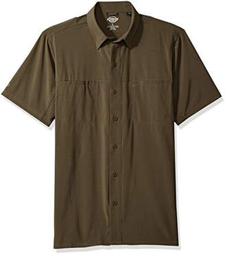 Dickies Men's Cooling Woven Shirt with 4-Way Flex