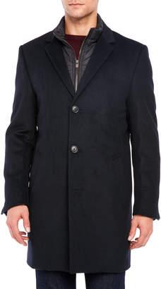 Hart Schaffner Marx Quilted Bib Wool Overcoat