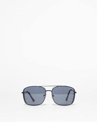 Express Square Aviator Sunglasses