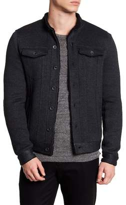 John Varvatos Collection Faux Shearling Knit Jacket