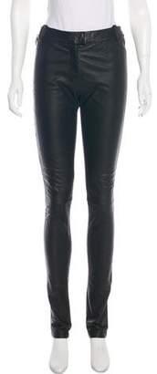 Preen by Thornton Bregazzi Mid-Rise Leather Pants