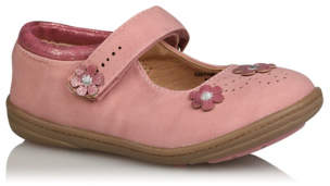 George First Walkers Pink Floral Detail Shoes