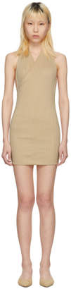 Jacquemus Beige La Maille Drapeado Longue Dress