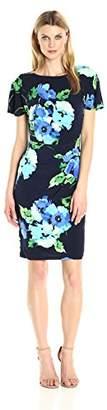Jessica Howard Women's Butterfly Sleeve Sheath Dress