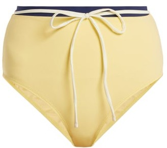 Solid & Striped - The Cora High Rise Bikini Briefs - Womens - Light Yellow