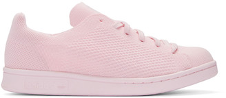 adidas Originals Pink Primeknit Stan Smith Sneakers $110 thestylecure.com