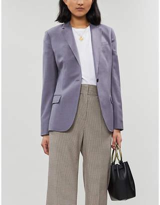 Theory Notch-lapel wool-felt jacket