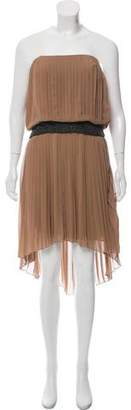 Haute Hippie Embellished Pleated Dress