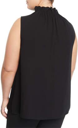 Lafayette 148 New York Percy Sleeveless Silk Blouse, Plus Size