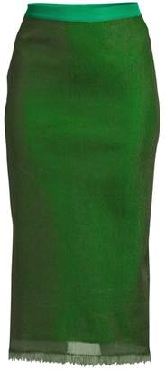 Escada Straight-Fit SIlk Midi Pencil Skirt