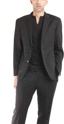 Simon Spurr Two Button Notch Black Twill Suit