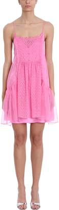 Stella McCartney Pink Silk And Chiffon Dress