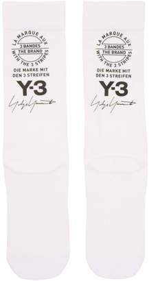 Y-3 White Logo Tube Socks