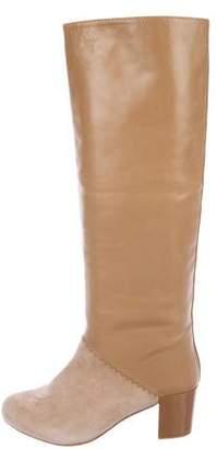 Schumacher Leather Knee-High Boots