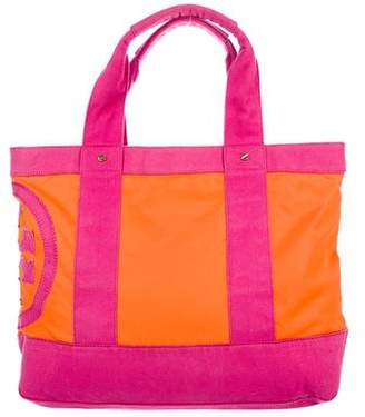 Tory Burch Canvas-Trimmed Nylon Tote Bag