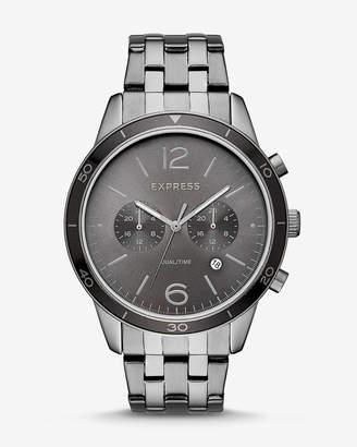 Express Gunmetal Multi-Function Bracelet Whittier Watch