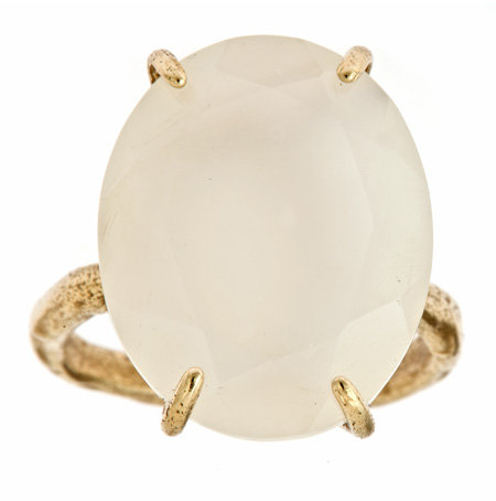 Raw Jewelry by JLRicci Oval Moonstone Cocktail Ring