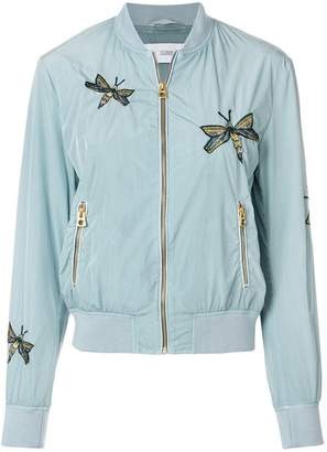 Closed embroidered bomber jacket