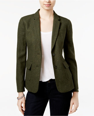 Tommy Hilfiger Two-Button Herringbone Blazer $149.50 thestylecure.com