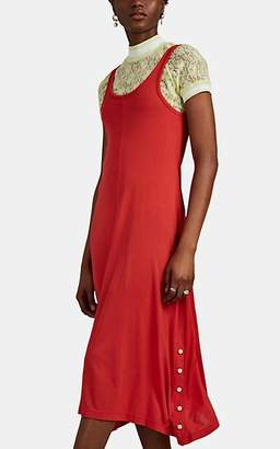 Rag & Bone Women's Allegra Button-Detailed Jersey Tank Dress - Red
