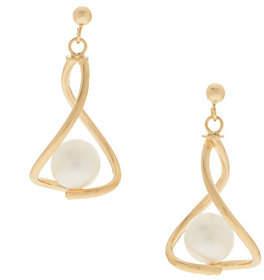 Honora Cultured Pearl Earrings, 14K Gold
