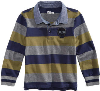 Epic Threads Toddler Boys Skull Striped Rugby Shirt, Created for Macy's