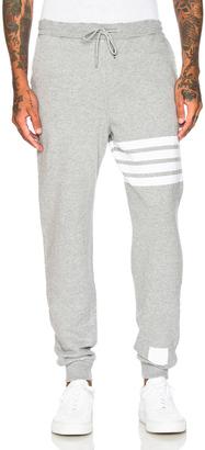 Thom Browne Distressed 4 Bar Stripe Sweatpants $740 thestylecure.com