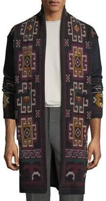 Etro Men's Carpet Knit Long Open-Front Cardigan