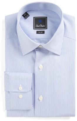 Men's David Donahue Slim Fit Stripe Dress Shirt $135 thestylecure.com