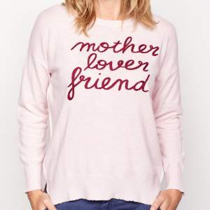Sundry Petal Pink Mother, Lover, Friend Sweater - 0 - Pink