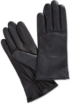 Charter Club Cashmere Lined Leather Tech Gloves