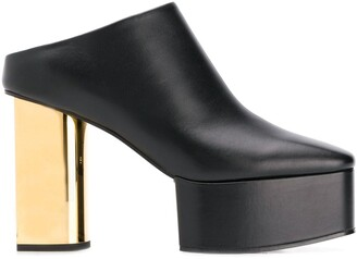 Proenza Schouler structured heeled mules