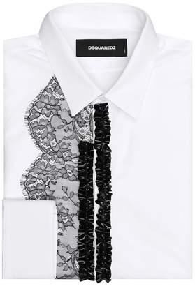 DSQUARED2 Lace Trim Shirt