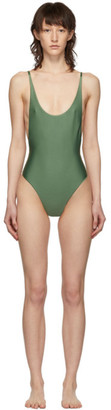 Haight Green Thin Strap One-Piece Swimsuit