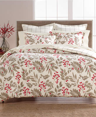 Martha Stewart Collection Bayberry Cotton Flannel King Duvet Cover