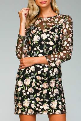 Minuet Floral Embroidered Dress