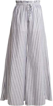 Caroline Constas Striped paperbag-waist trousers