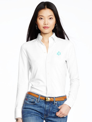 Personalization Knit Oxford Shirt $98.50 thestylecure.com