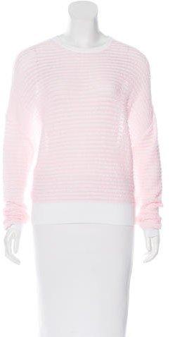 Chloé Chloé Open Knit Crew Neck Sweater