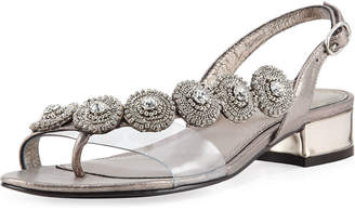 Adrianna Papell Daisy Embellished Flat Sandals