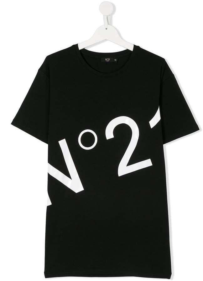 No21 Kids logo print T-shirt