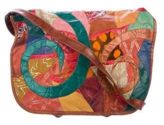 Carlos Falchi Patchwork Crossbody Bag