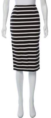 Nicholas Stripe Knee-Length Skirt