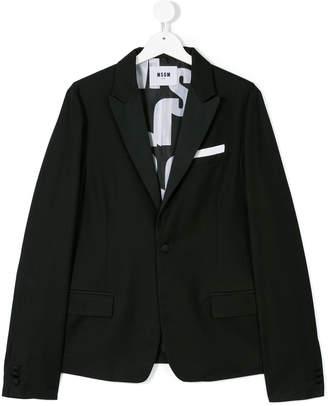 MSGM Teen one button blazer