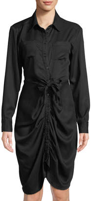 Catherine Malandrino Twisted Long-Sleeve Shirtdress